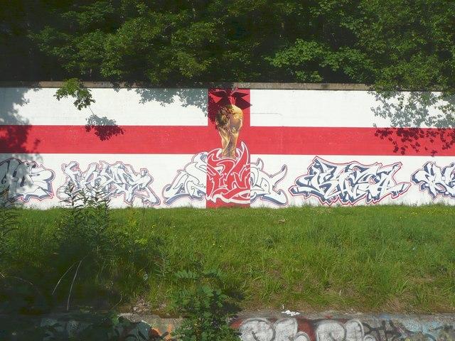 World Cup graffiti at Salterhebble, Halifax