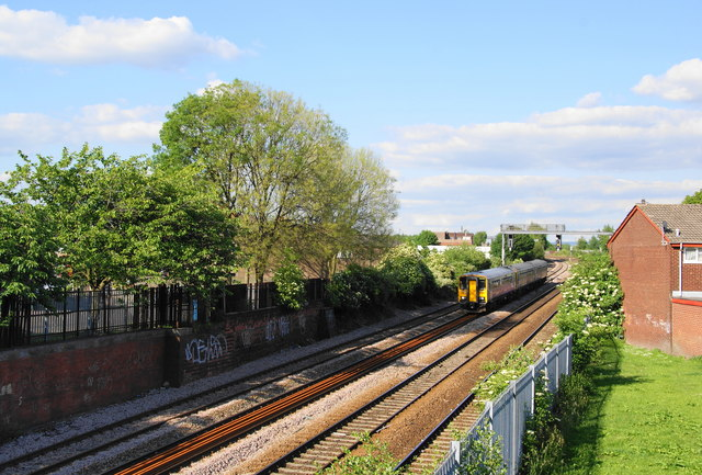 A train approaching Manchester Victoria