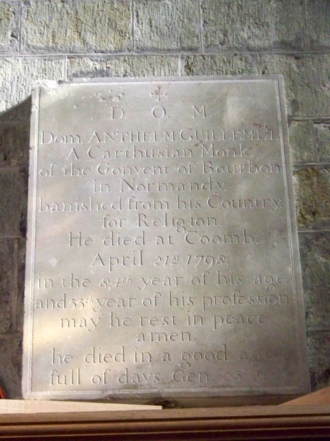 Memorial, St Mary's Church