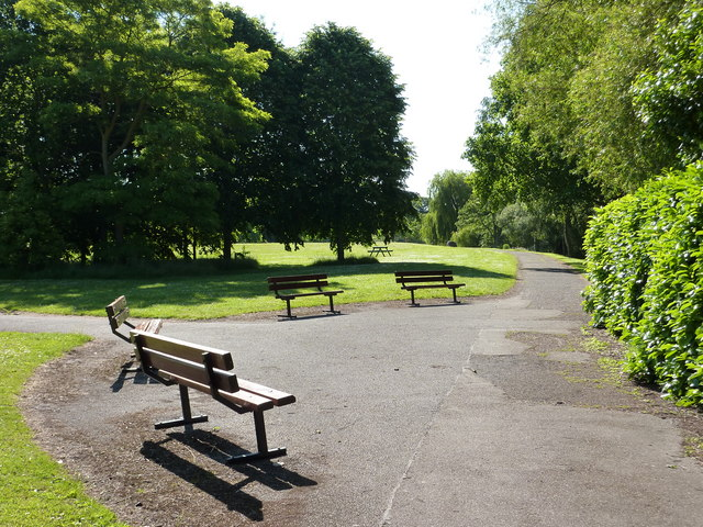 Benches, Belle Isle Park, Exeter