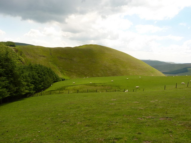 Y Foel from the southern side of Y Gribin