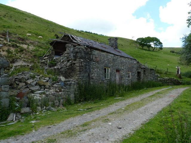 The ruins of Cwm-yr-haidd-uchaf