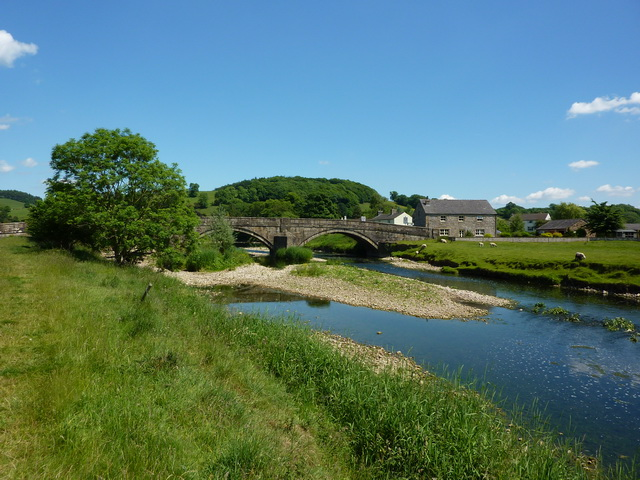 Sawley Bridge over the River Ribble