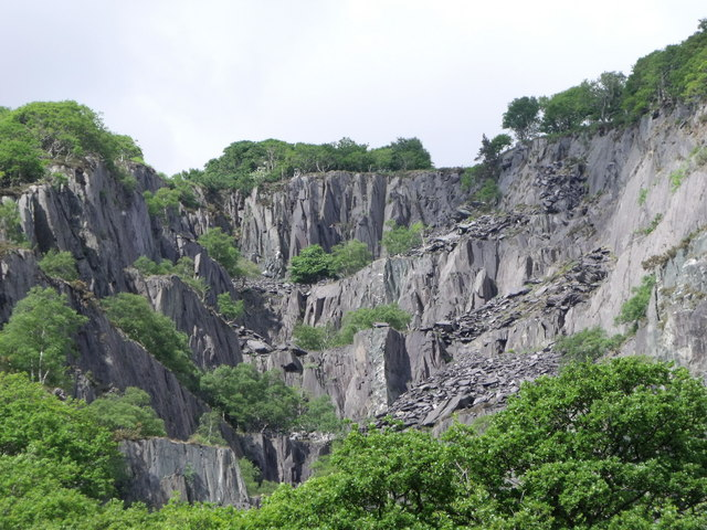 Remains of slate quarries at Llanberis