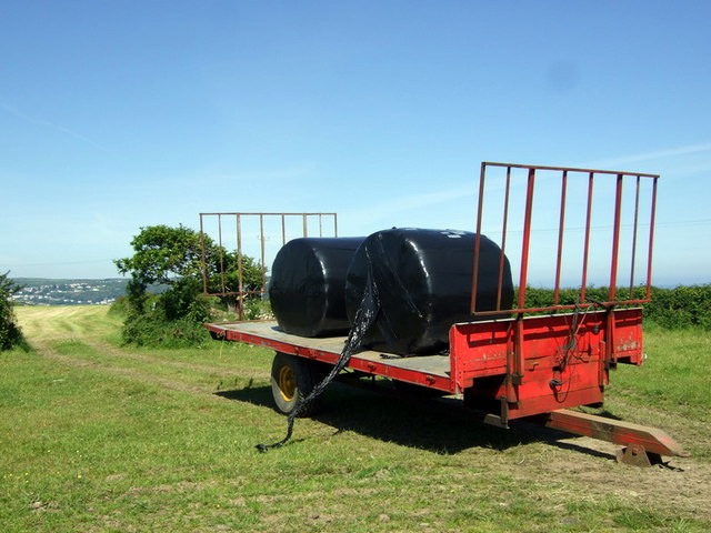Silage gathered in