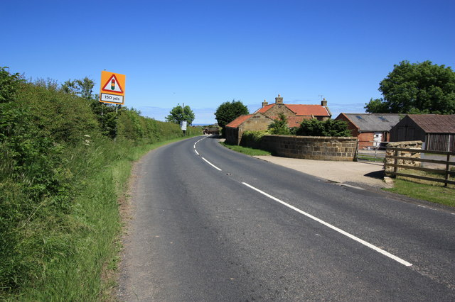 The B1268 near Lane End Farm
