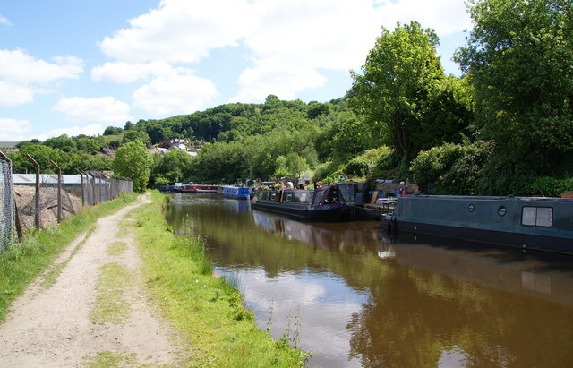 Moored-up barges