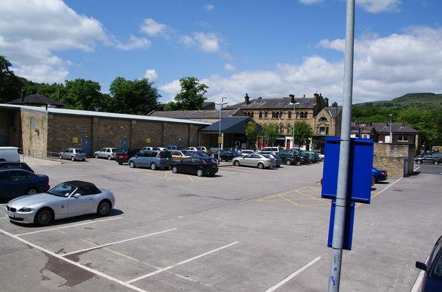 The Lidl car park