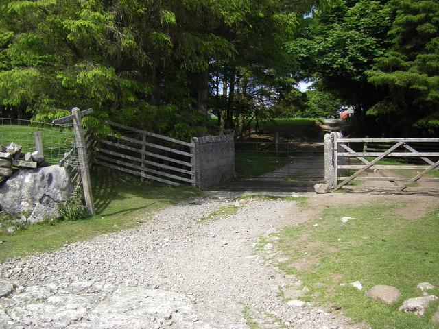 Gated entrance to Ellerbeck