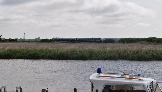 A class 170 about to Cross the Waveney