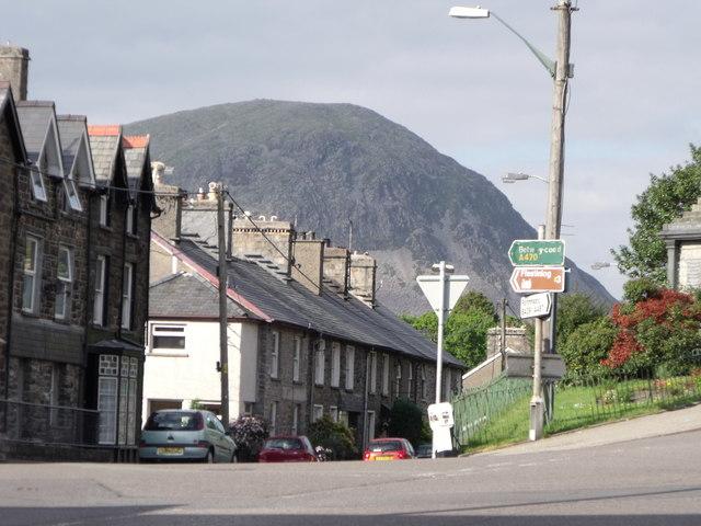 Centre of Llan Ffestiniog, Gwynedd
