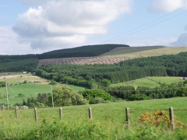 Ceunant Cynfal valley near Llan Ffestiniog