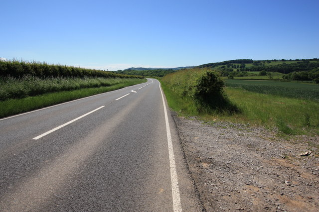 The A173 road near Duck Hill