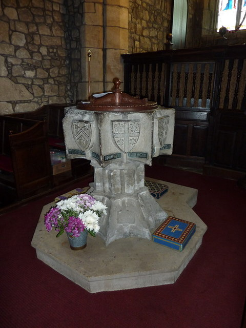 St Peter and St Paul's Church, Bolton-by-Bowland, Font