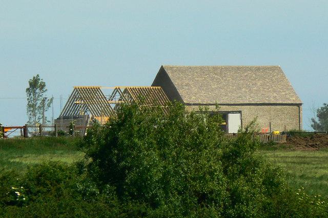 Work in progress, Poulton Hill Farm, near Down Ampney