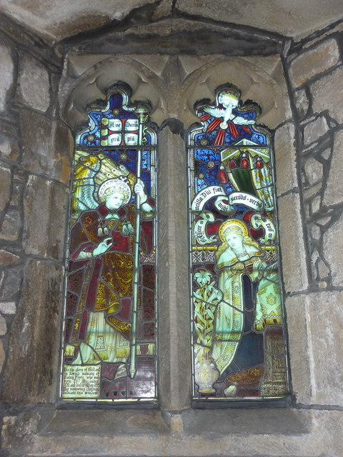 St Peter and St Paul's Church, Bolton-by-Bowland, Stained glass window