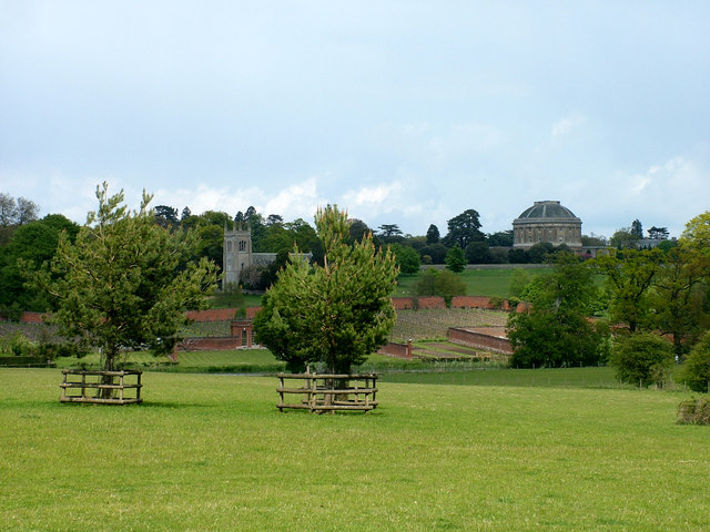 Ickworth House and Church from Lownds Wood