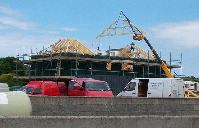 Building a new house at Efailnewydd