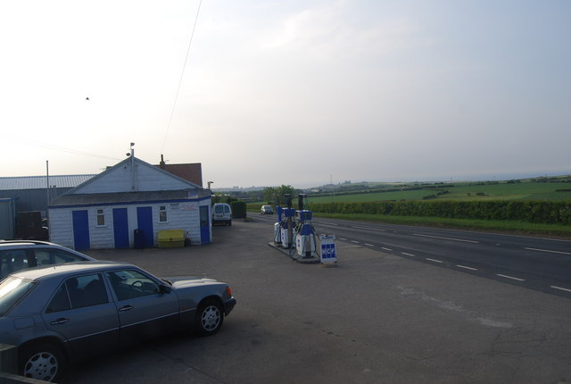 Filling station, Summerfield Lane and A171 junction, Stainsacre