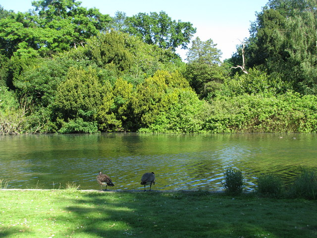 The lake from the garden of Osterley House