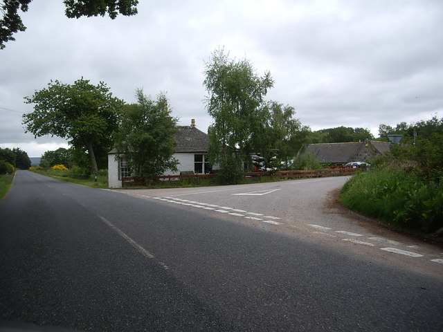 Road junction and Knappach Toll House