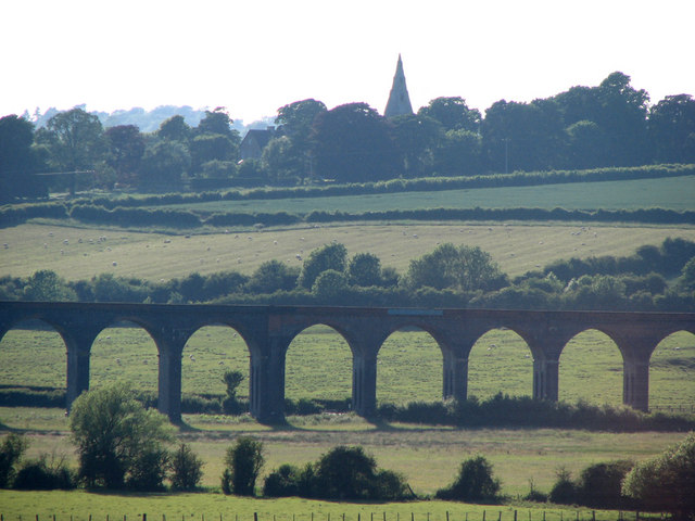 Harringworth Viaduct from afar