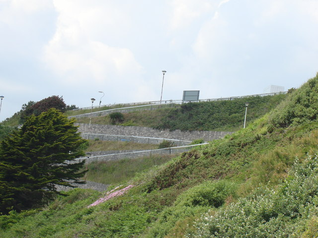 The Westcliff Zigzag, viewed from the promenade