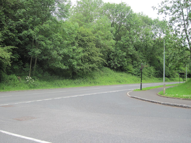 Legges Way at Junction with Blsts Hill entry road