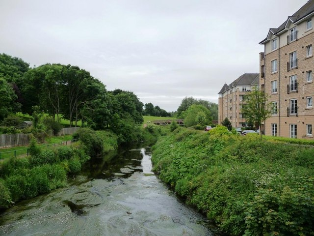 Water of Leith downstream of St Mark's Bridge