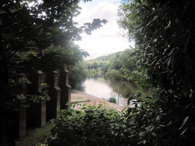 River Severn upstream from Museum of the Gorge