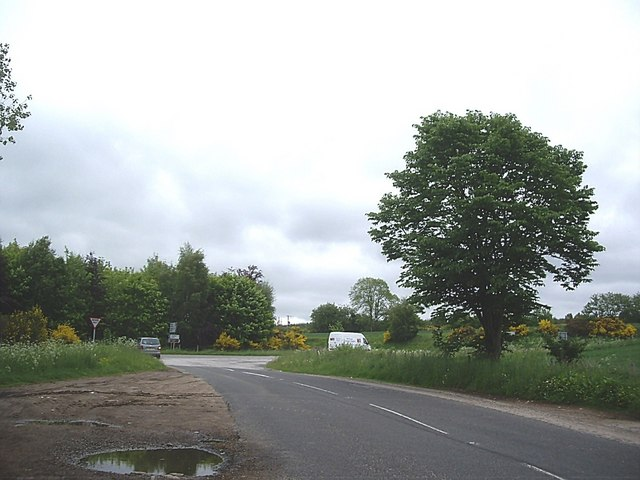 Approach to A957 junction