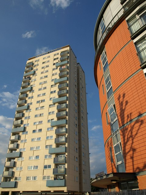 High rise on Wandsworth Bridge Road