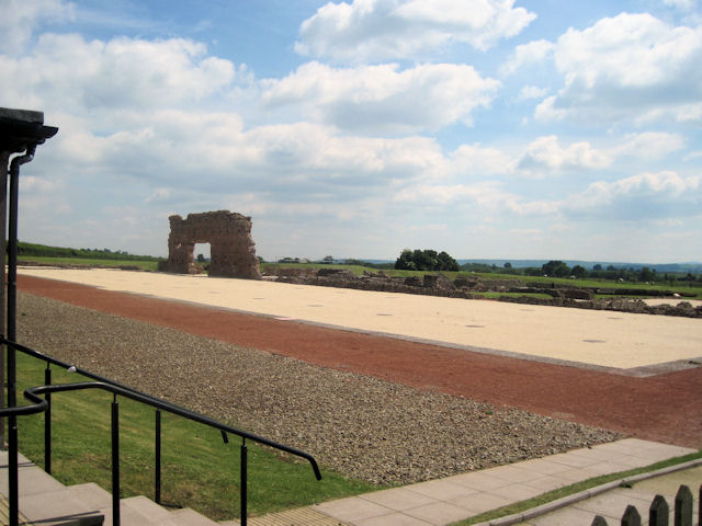 Wroxeter Roman City viewed from entrance