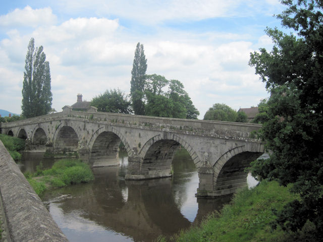 Atcham old bridge