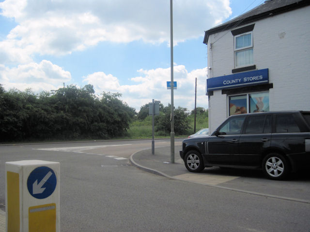 County Stores and junction at Cross Houses