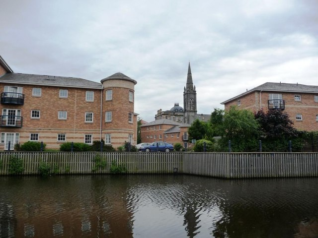 Riverside development, the Water of Leith