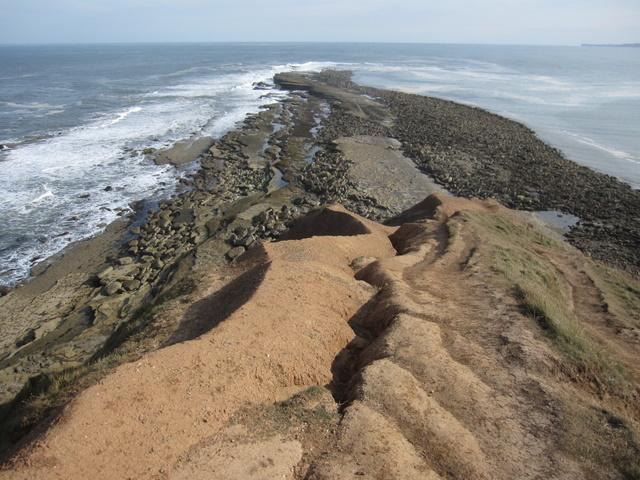 Filey Brigg - erosion on Carr Nase