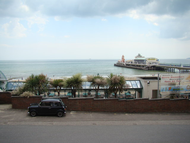View of Bournemouth Pier from the steps to KFC and the IMAX cinema