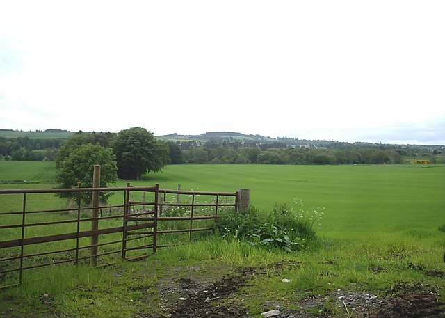 Fields near Wester Durris
