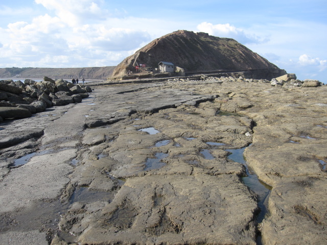 Filey Brigg - view to Carr Nase