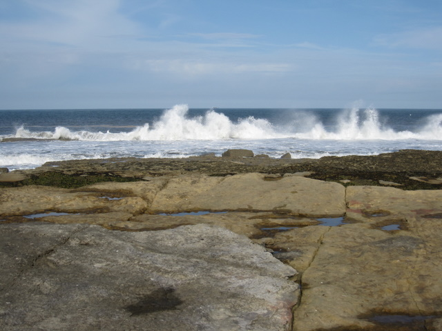Filey Brigg - incoming waves