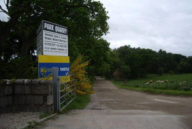 Access to Park Quarry (sandpit)