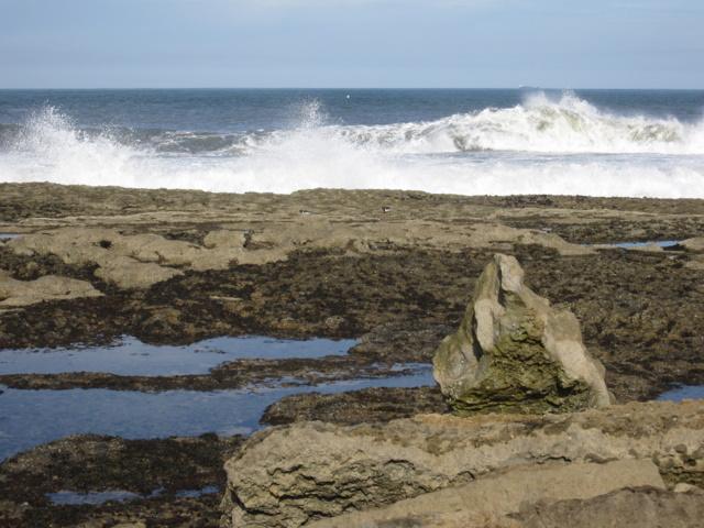 Filey Brigg - incoming waves 2