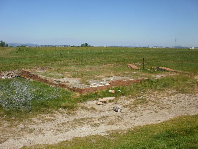 Remains of a building