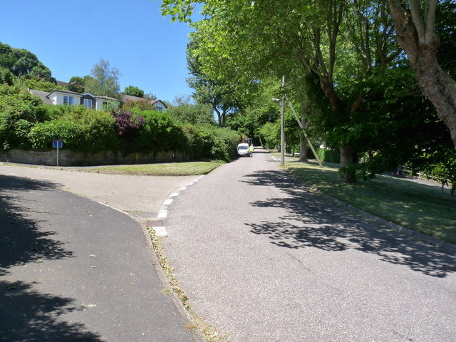 The road to Georgeham passing St. Brannock's Hill (left)
