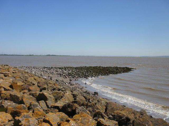 Breakwater viewed from coastal path