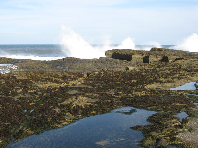 Filey Brigg - High Brigg and crashing waves