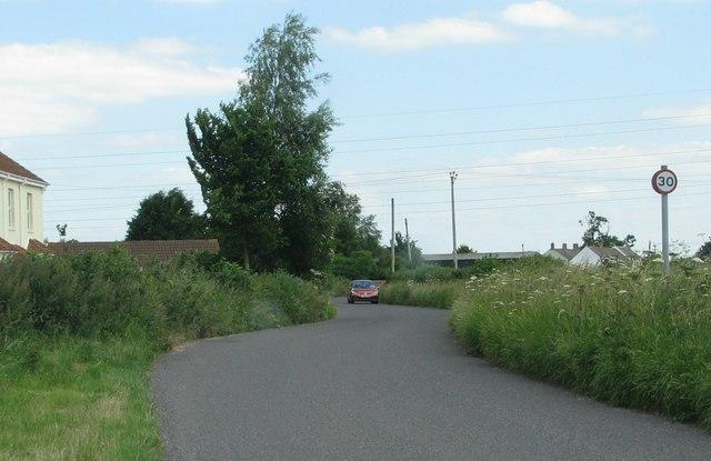 Road at Slape Cross