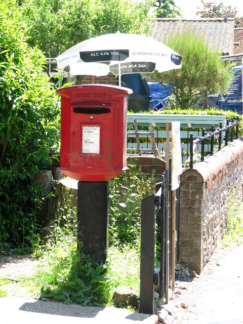 Postbox by the village shop in Great Massingham