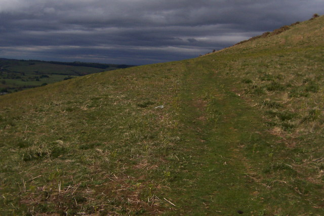 Faint Track on the Flanks of Heughscar Hill
